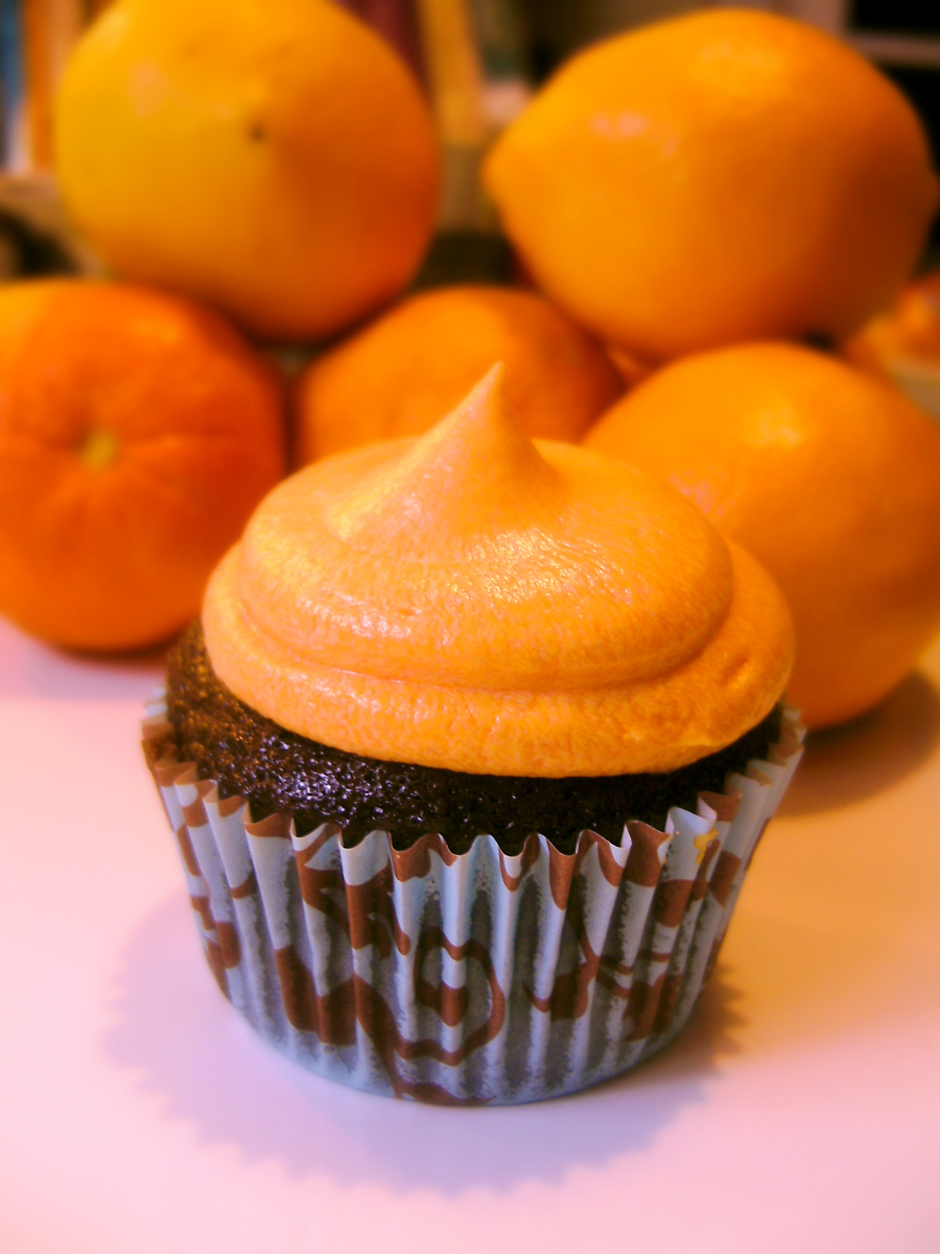 Chocolate Cupcakes with Orange Buttercream | Sugarbomb Bakery